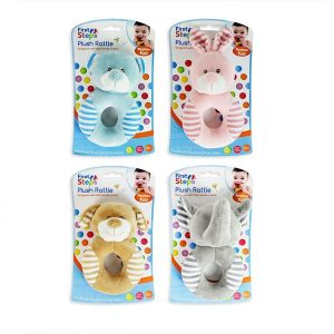 Animal Plush Baby Handbell Rattle