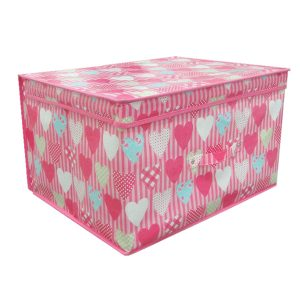 Pink Hearts Design Jumbo Storage Chest - Wrap Your Love