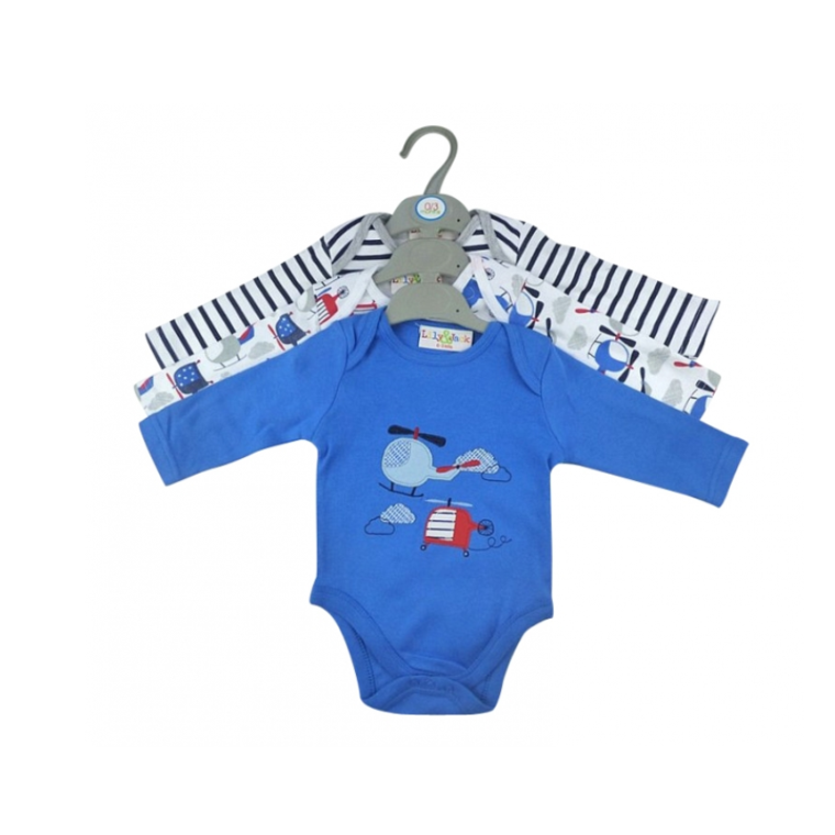 Baby Boys Helicopter 3pk Vests Wrap Your Love