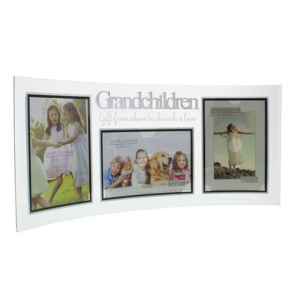 Curved Glass Triple Frame - Grandchildren - Wrap Your Love