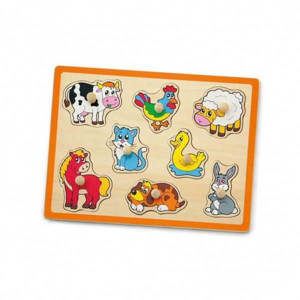 Peg Puzzle - Farm Animals